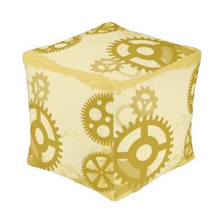 Steampunk Cube Pouf