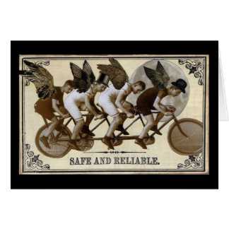 Steampunk Cyclists Card