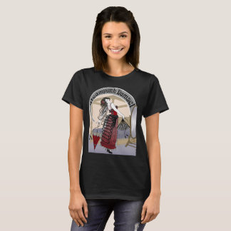 Steampunk Damsel 2 Victorian Illustration dark shi T-Shirt
