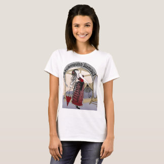 Steampunk Damsel 2 Victorian Illustration T-Shirt