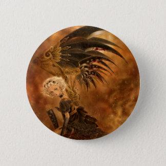 Steampunk Dark Angel Button