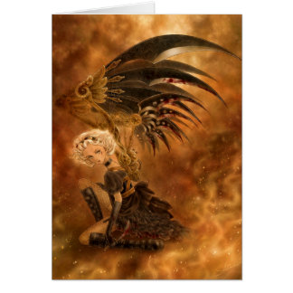 Steampunk Dark Angel Greeting Card