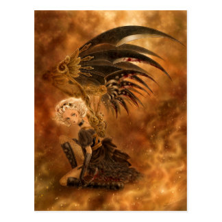 Steampunk Dark Angel Postcard