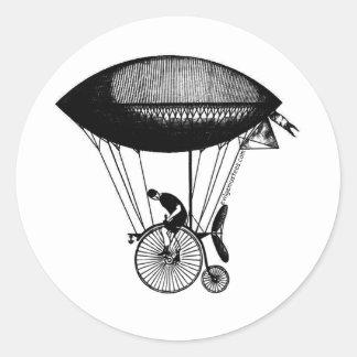 Steampunk derigicyclist classic round sticker