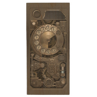 Steampunk Device - Rotary Dial Phone. Wood USB Flash Drive