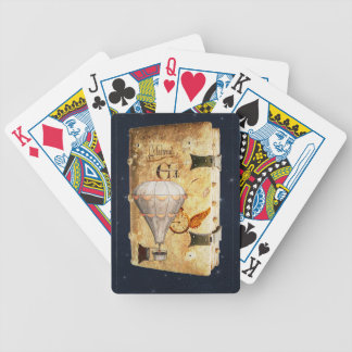 Steampunk Diary Bicycle Playing Cards