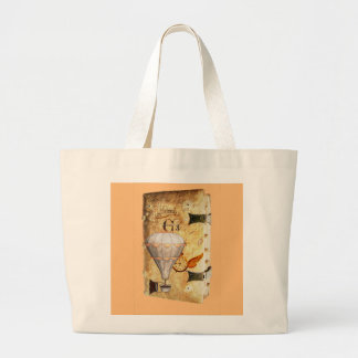 Steampunk Diary Large Tote Bag