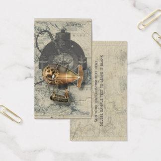 Steampunk Dirigible Balloon Ride Business Card