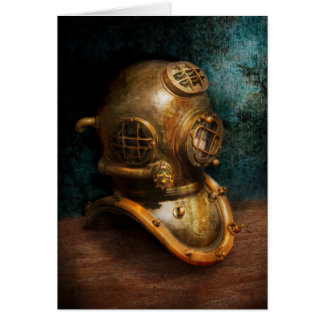 Steampunk - Diving - The diving helmet Card
