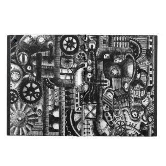 steampunk draw machinery cartoon mechanism pattern iPad air cover