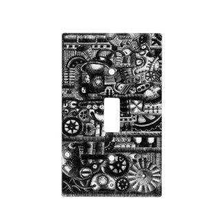 steampunk draw machinery cartoon mechanism pattern light switch cover