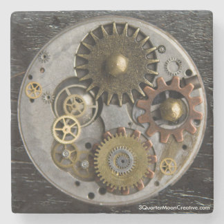 SteamPunk Drink Coaster, Marble Coaster, Steampunk Stone Coaster