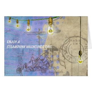 Steampunk Edison Lights on a Wire Valentine's Day Card