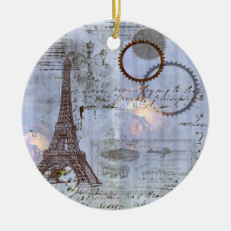 Steampunk Eiffel Tower Christmas Ornament