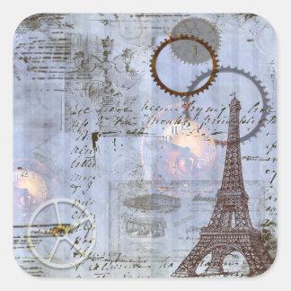 Steampunk & Eiffel Tower Tags Stickers