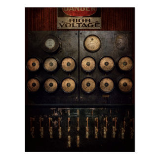 Steampunk - Electrical - Center of power Postcard