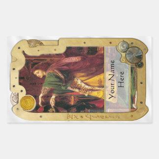 Steampunk Ex Libris - Morgan La Fey Book Plate Sticker