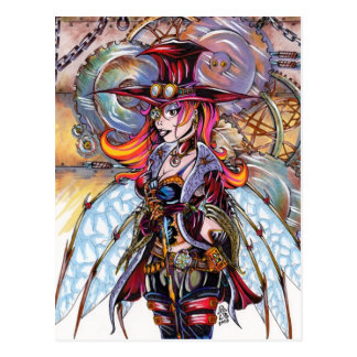 Steampunk Fairy Postcard