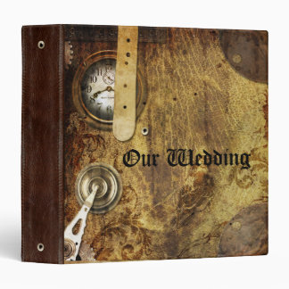 Steampunk Faux Leather and Gears Binder