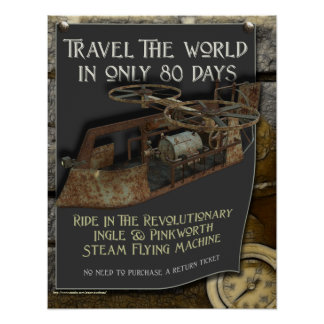 Steampunk Flying Machine Print
