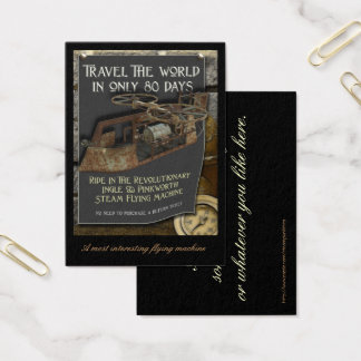 Steampunk Flying Machine Profile Card