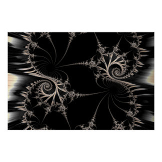 Steampunk fractal poster