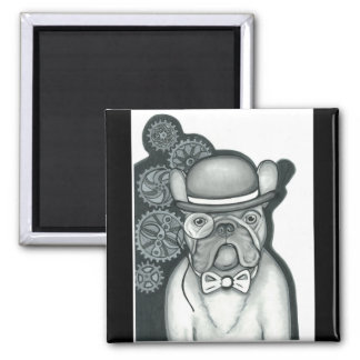 Steampunk French Bulldog magnet