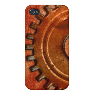 Steampunk Gear on Leather-look iPhone Speck Case iPhone 4 Covers