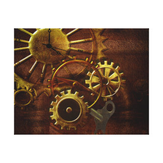 Steampunk Gears and Pipes Canvas Print