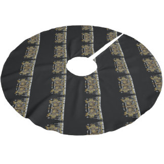 Steampunk Gears and Pipes Machine Brushed Polyester Tree Skirt
