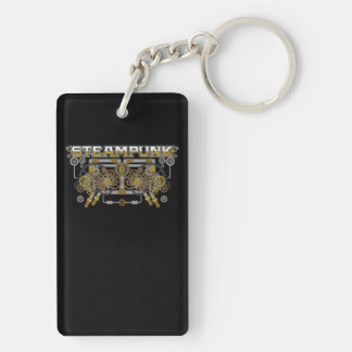 Steampunk Gears and Pipes Machine Keychain
