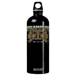 Steampunk Gears and Pipes Machine Water Bottle
