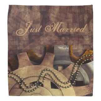 Steampunk Gears & Baubles Wedding Bandana