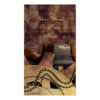 Steampunk Gears & Baubles Wedding Business Card