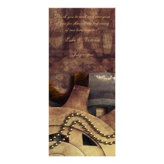Steampunk Gears & Baubles Wedding Custom Rack Card