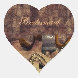 Steampunk Gears & Baubles Wedding Heart Sticker