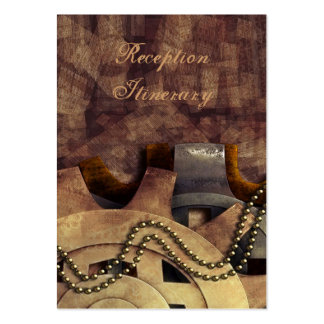 Steampunk Gears & Baubles Wedding Large Business Card