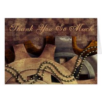 Steampunk Gears & Baubles Wedding Note Card