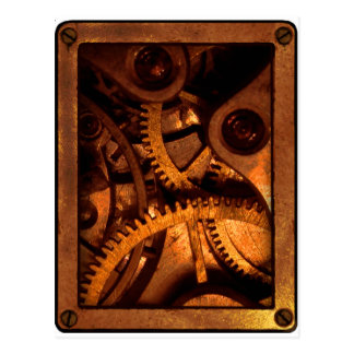 Steampunk Gears Clockwork Postcards