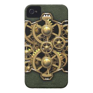 Steampunk Gears Green #1A iPhone 4 Case-Mate Case