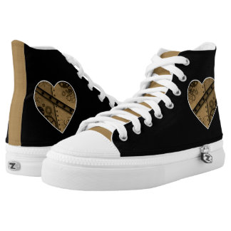 Steampunk gears heart high tops