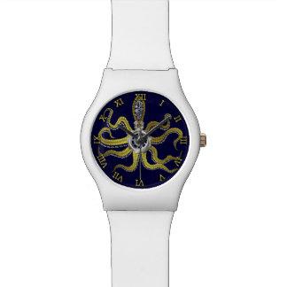 Steampunk Gears Octopus Kraken Wristwatches