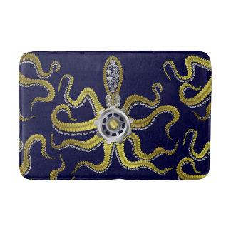Steampunk Gears Octopus Metal Kraken Bath Mat