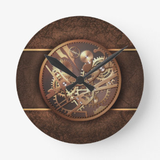 steampunk gears round clock