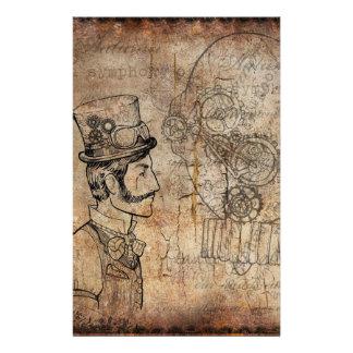 Steampunk Gentleman Retro Gears Stationery
