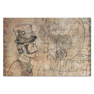 Steampunk Gentleman Retro Gears Tissue Paper