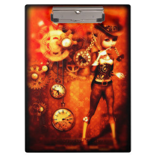 Steampunk Girl Clipboard