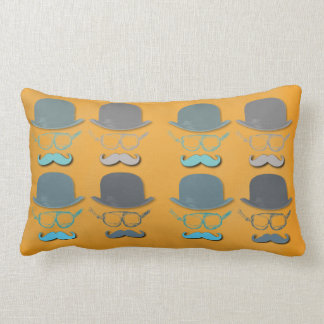 Steampunk Goggles, Hats and Mustaches Lumbar Pillow