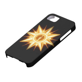 Steampunk Gold Compass Rose Altered Light iPhone 5 Covers