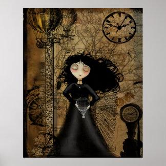Steampunk Goth Girl Art Poster